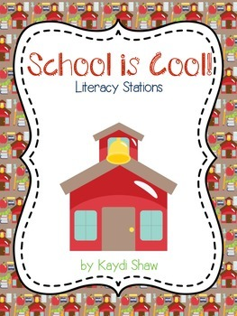 School is Cool! Literacy Stations