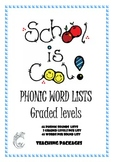 School is Cool Phonic Word Lists