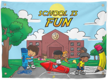 School is Fun-Huge Murals- Hard Goods