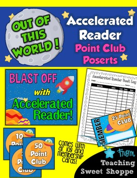 School is Out of This World!  Accelerated Reader Point Clubs!