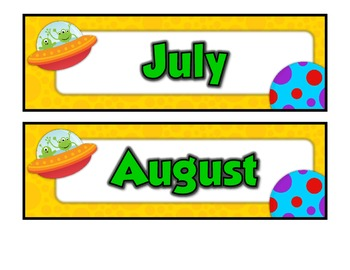 School is Out of This World!  Months of the Year & Days of the Week!