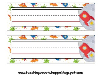 School is Out of This World!  Student Name Tags in 6 Colorful Designs!