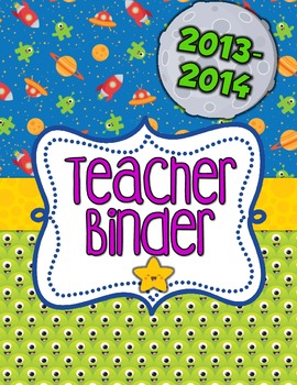 School is Out of This World!  Teacher Organizational Binder!