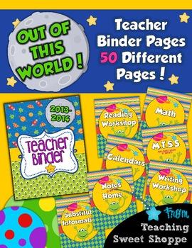 School is Out of This World!  Teacher Organizational Binder!