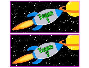 School is Out of This World!  Team Labels for Your Classroom!