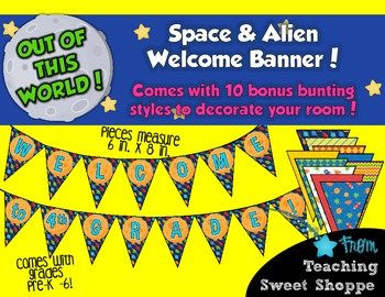 School is Out of This World!  Welcome Banner with BONUS De