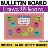School is a LLAMA Fun!  {Editable Back to School Display}