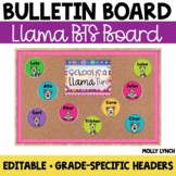 School is a LLAMA Fun!  {Editable Back to School Display}