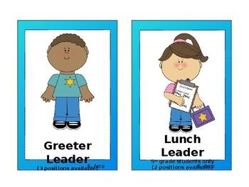 School leadership Roles (Editable)