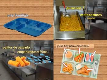 School lunches El almuerzo escolar La comida