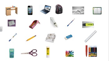 School supplies : Powerpoint presentation and activities.