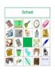 School Objects in English Bingo