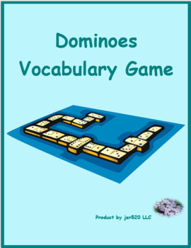School objects in English Dominoes