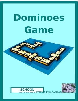 School objects in English Dominoes