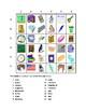 School objects in English Find it Worksheet