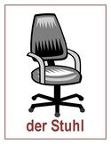 Schulsachen (School objects in German) Posters