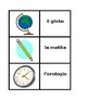 Articoli di cancelleria (School objects in Italian) Concentration games