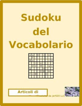 Articoli di cancelleria (School objects in Italian) Sudoku