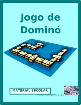 Material escolar (School Supplies in Portuguese) Dominoes