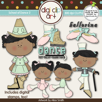 School of Dance 2-  Digi Clip Art/Digital Stamps - CU Clip Art