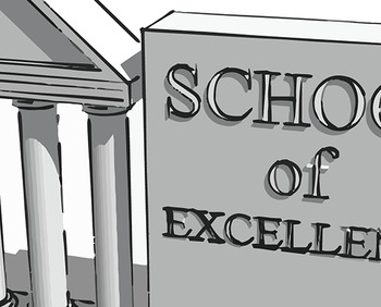 School of Excellence 3D image ( Ancient Greece Theme )