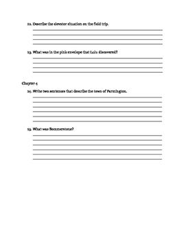 School of Fear Chapters 1-4 Quiz