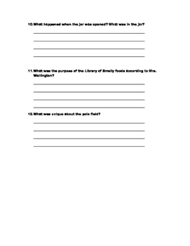 School of Fear Chapters 13-17 Quiz