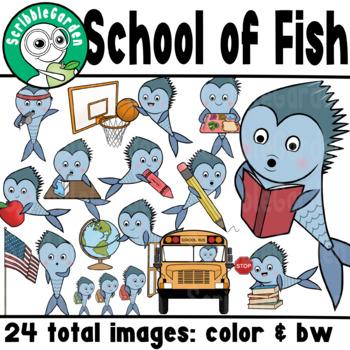 School of Fish ClipArt