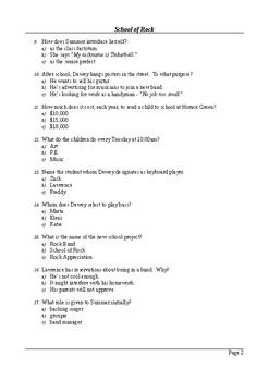 School of Rock - 50 Question Multiple Choice Quiz