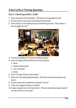 School of Rock Study Guide - Active Learning Tasks Bundle