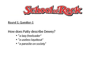 School of Rock Table Quiz