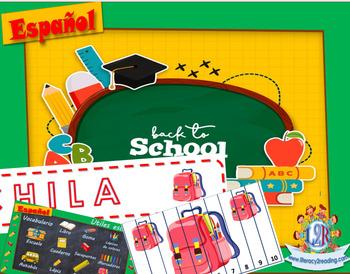 School puzzles + Spanish / Puzles de la escuela + Vocabulario en Español