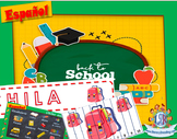 School puzzles + Spanish / Puzles de la escuela + Vocabula