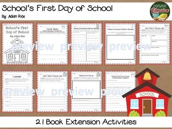 School's First Day of School by Adam Rex Pack  - 18 Activities NO PREP!
