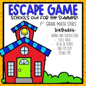 School's Out Escape Room 1st grade Math Skills