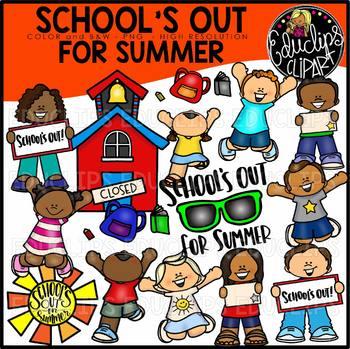 School's Out For Summer Clip Art Bundle {Educlips Clipart}