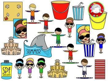 School's Out for Summer Clipart (Personal & Commercial Use)