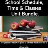 School, Schedule and Classes Bundle For La Escuela, Clases