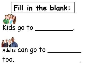 School sight word mini book