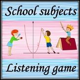 School subjects.  Back to school.  Guessing game with audio vocabulary.