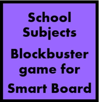 School subjects Blockbuster game for Smartboard