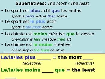 School subjects / Comparing school subjects / Comparative / Superlative