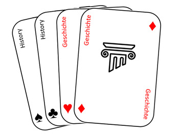 School subjects playing cards - German