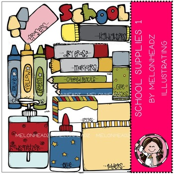 School supplies 1 by Melonheadz COMBO PACK