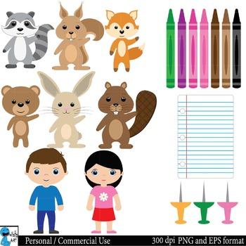 School supplies Digital Clip Art Graphics 68 images cod14