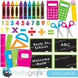 School supplies clipart commercial use, vector graphics - CL549
