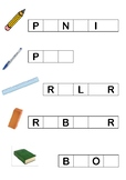 School supplies - fill in the gaps