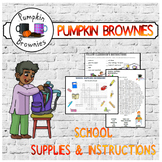 School supplies & instructions