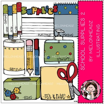School supplies clip art 2 - by Melonheadz