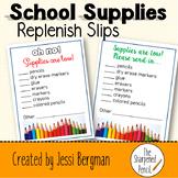 School Supplies Replenish Slip